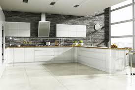Modern grey white kitchen decoration using dark grey stone modern