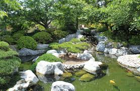 Lawn & Garden:Japanese Garden Landscape Design Backyard Japanese Gardens  With Fish Pond