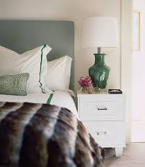 diane bergeron interiors bedrooms white and green bedroom gray headboard white and green bedding white and green shams white and gre