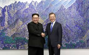 Image result for north south korean leaders meet