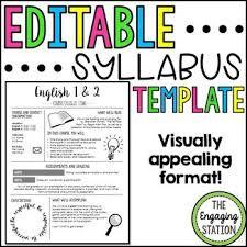 Editable Syllabus Infographic