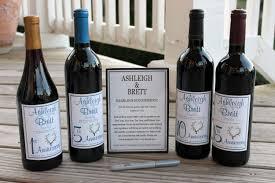 Diy Wine Bottle Labels Wine Bottle Guest Book Kit Gift Boxed Custom Labels Wedding