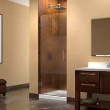 dreamline unidoor 23 30 w x 72 h hinged shower door half frosted glass door free modern bathroom
