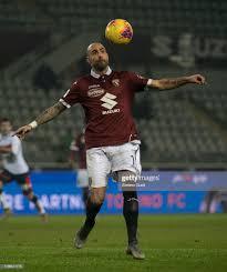 Simone Zaza of Torino FC controles the ball during the Coppa ...