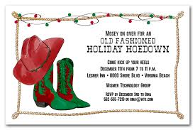 Christmas Holiday Invitations Cowboy Christmas Boots And Rope Invitations