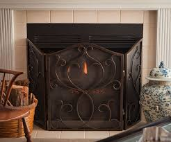 find best value and selection for your tuscan scrolled 3 panel fireplace screen w mesh antique