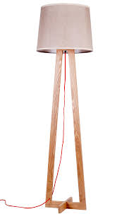 modern good quality wooden floor lamp