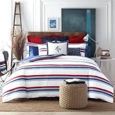 decoration striped cotton 3 piece comforter set tommy hilfiger