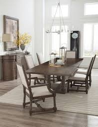 lincoln park trestle dining room set hekman home gallery s trestle dining tables
