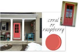Coral Front Door Front Door Dilemma Choosing A New Color Jenna Burger