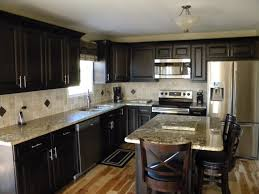 ... Cabinet Lighting, Countertops Cabinet Dark Cabinets Light Granite  Design: great dark cabinets light granite ...