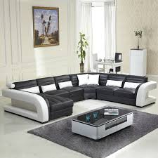 ... New Style Sofa Design Black White Themed Colour Some Throw Pillows  Light Ceramics Big Hanging Painting ...