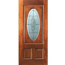 cozy wooden and glass front doors automatic wooden finish half glass front door thickness mm