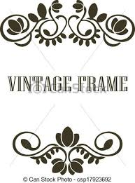 vintage frame border. Vintage Frame Border Elements - Csp17923692