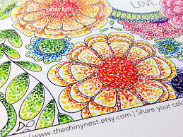 coloring with markers.  Coloring Today I Am Coloring With Markers In My Adult Coloring Page Using A Fun  Technique That Involves Just Dots You Donu0027t Really Need Any New Skills To Do This So  In With Markers