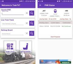 Live Train Chart Traintkt Pnr Status Running Status Live Rly Board Apk