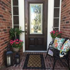 Spring Outdoor decorating. Small Front Porch | Small Outdoor Living Area |  Outdoor seating |