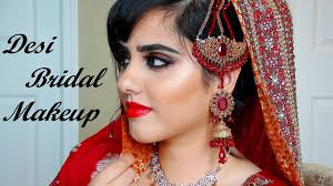 indian stani punjabi bridal makeup for red orange outfit ethereal you