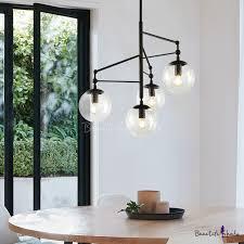 clear seedy glass globe chandelier 4