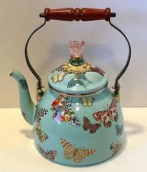 mackenzie childs teapot 2 quart teapot erfly garden sky blue mackenzie childs teapot review mackenzie childs teapot