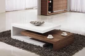Walnut Living Room Furniture Solar High Gloss White And Walnut Coffee Table