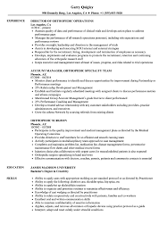 Orthopedic Resume Samples Velvet Jobs