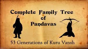 Mahabharata Family Tree Chart Pdf In Hindi Pandavas Complete Family Tree Mahabharata Facts