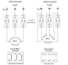 star delta wiring diagram starter images panel wiring diagram the difference between soft starter in 3 wire amp 6 connection