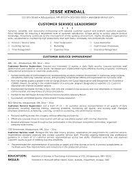 Customer Service Supervisor Resume Berathen Com