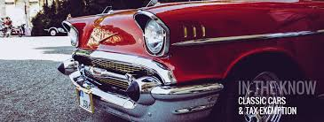 classic cars and tax exemption