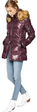 S13 Coat Size Chart Red Wine Quilted Down Hooded Gramercy Faux Fur Puffer Jacket Xl Coat Size 16 Xl Plus 0x 41 Off Retail