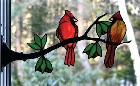 cardinal stained glass panel patterns pattern bird p