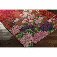 astoria grand coale hand knotted wool dark red area rug