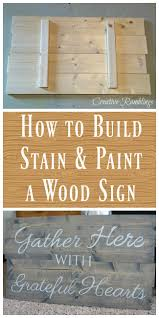 creative diy wood signs 1 build and paint a wood sign