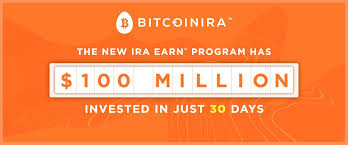 A bitcoin ira is an ira with bitcoin or other cryptocurrencies in its portfolio. Bitcoin Ira Clients Invested Over 100 Million Dollars Into Interest Earning Program In Just 30 Days
