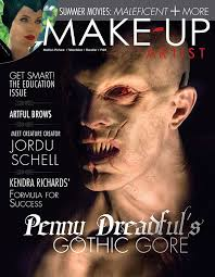 make up artist magazine issue 109 character cover makeupmag