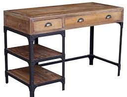 plan rustic office furniture. Writing Desk With Metal Legs Maule 3 Drawer Cherry Regard To Rustic Wood Drawers Plan 14 Office Furniture