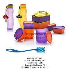 holiday gift set paket bawa bekal dan botol minum tupperware promo tupperware