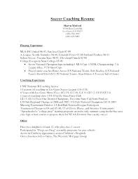 Resume Coach Gorgeous Soccer Coach Resume Best Coaching Resume Contemporary Best Resume