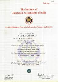 venkatakrishnan narayanan bayt com it security and systems audit postgraduate diploma by institute of chartered accountants of