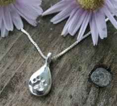 pawprint tears cat memorial jewelry