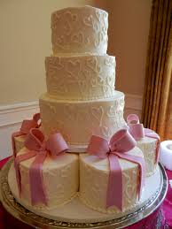 Designer Cakes Charlotte Nc Hearts And Bows Wedding Cake Www Cheesecakeetc Biz Wedding