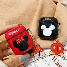 Vỏ Bảo Vệ Hộp Đựng Tai Nghe Airpods 1 / 2 / Pro Không Dây Hình Chuột Mickey  Dễ Thương