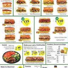 subway menu prices. Modren Subway Subway Menu Price List  World With Regard To Within  Intended Prices