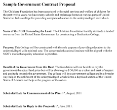 Contractor Proposal Template Government Contract Proposal Template