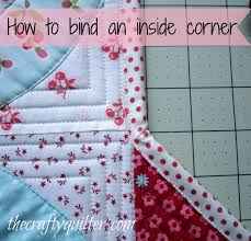 How to bind an inside corner - The Crafty Quilter & bind an inside corner Adamdwight.com