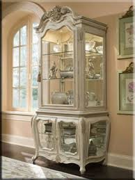 Michael Amini Lavelle Curio Cabinet with Three Glass Doors ...