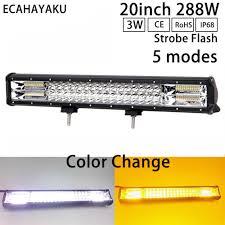 <b>ECAHAYAKU 20Inch 288W</b> Led Light Bar Dual color 4000K/6000K ...