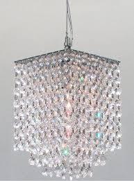 modern mini rectangular chandelier