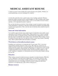 Medical Assistant Resume Samples Free Sample Medical Assistant Resume Resume Samples 19